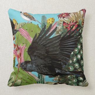 Almofada Grande travesseiro decorativo do corvo