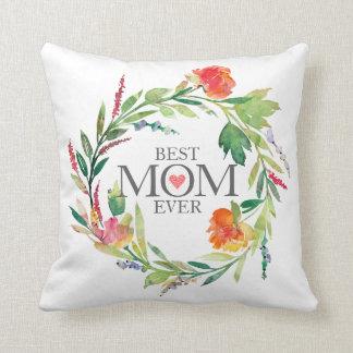 Almofada Grinalda Nunca-Colorida das flores da melhor mamã