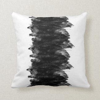 Almofada Grunge branco preto