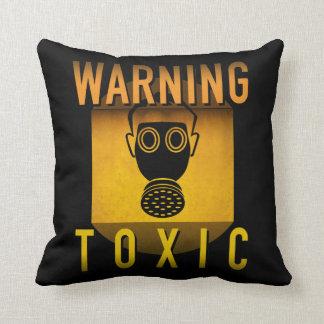 Almofada Grunge retro de advertência tóxico da idade