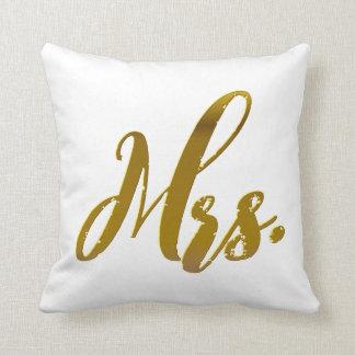 Almofada Grupo do travesseiro da folha de ouro do Sr. e da