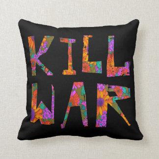 Almofada Guerra do matar (flower power)