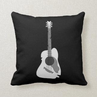 Almofada Guitarra acústica abstrata distorcida