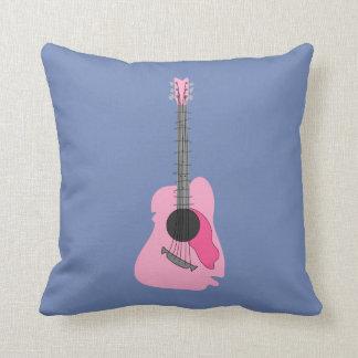 Almofada Guitarra acústica abstrata distorcida rosa