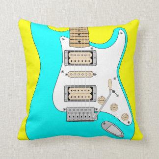Almofada Guitarra azul elétrica