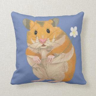 Almofada Hamster peludo bonito que guardara uma flor
