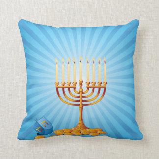 Almofada Hanukkah Candles o travesseiro decorativo