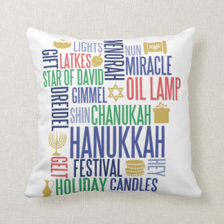 Almofada Hanukkah exprime o travesseiro decorativo do