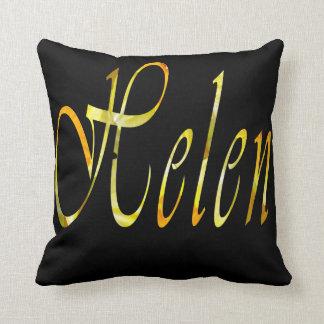 Almofada Helen, logotipo conhecido das meninas, coxim preto