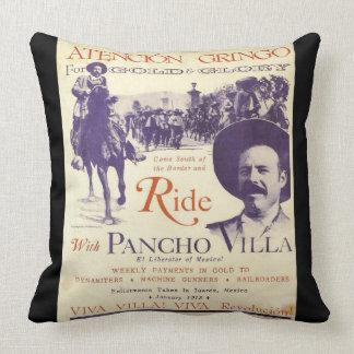 Almofada Herói do mexicano do general Pancho Villa