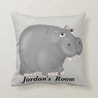 Almofada Hipopótamo bonito do bebê do travesseiro do miúdo