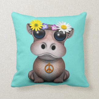 Almofada Hippie bonito do hipopótamo do bebê