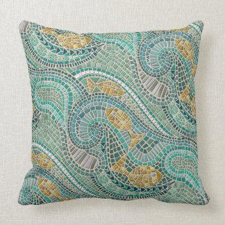 Almofada hortelã dos peixes do mosaico