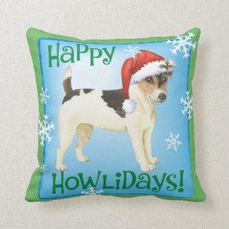 Almofada Howlidays feliz Russell Terrier