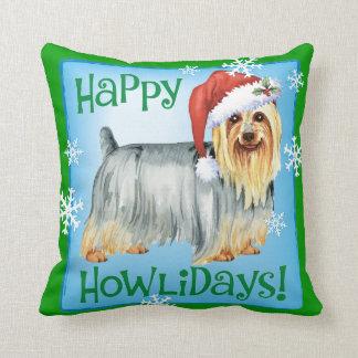 Almofada Howlidays feliz Terrier de seda