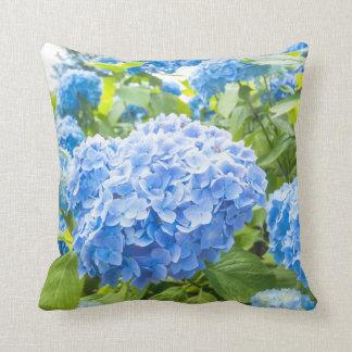 Almofada Hydrangea azul, travesseiro do jardim