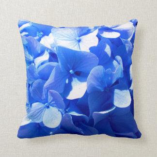 Almofada Hydrangea dos azuis cobaltos