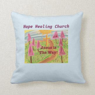 Almofada Igreja cura Jesus da esperança o travesseiro