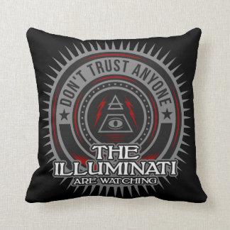 Almofada Illuminati está olhando não confia qualquer um