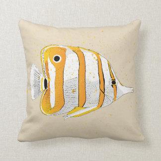 Almofada Ilustração brilhante do Angelfish da listra do