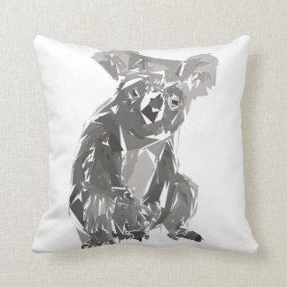 Almofada Ilustração da arte do polígono do Koala