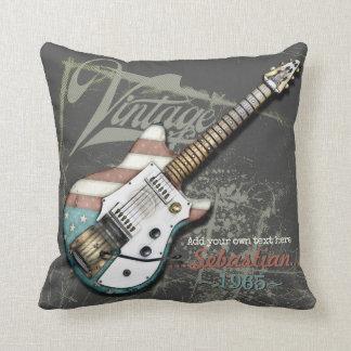Almofada Ilustração da guitarra elétrica de bandeira