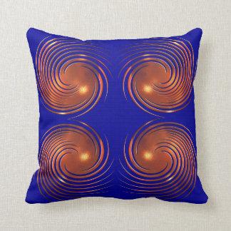 Almofada Ilustração espiral dourada abstrata