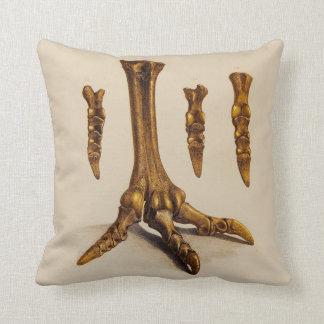 Almofada Ilustração fóssil do pé