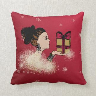 Almofada ilustração sparkling da forma do Natal