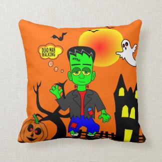 Almofada Imagem do monstro de Frankenstein engraçado