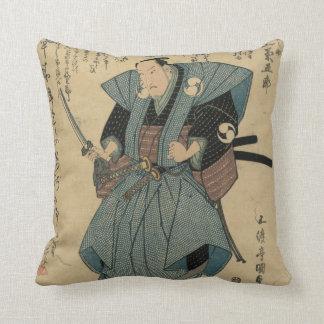 Almofada Imagem japonesa do vintage do ator no papel do