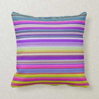 Almofada Impressão abstrato colorido da listra