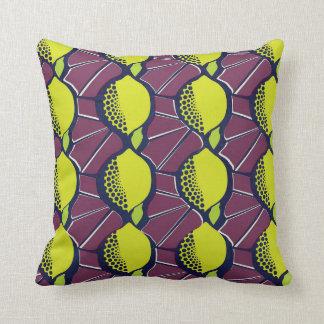 Almofada Impressão africano do estilo da cera do limão