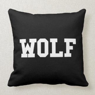 Almofada Impressão agradável do lobo