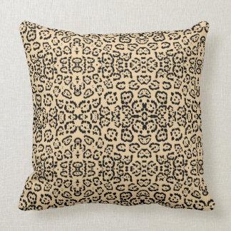 Almofada Impressão animal Brown do gato do leopardo