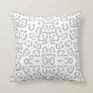 Almofada Impressão animal cinzento do gato de leopardo da