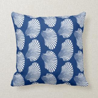 Almofada Impressão, azuis marinhos e branco de bloco de