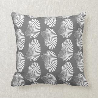 Almofada Impressão, cinzas/cinza e branco de bloco de Shell