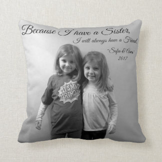 Almofada Impressão do travesseiro do amigo da irmã que diz