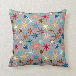 Almofada Impressão moderno de Starburst, cores da jóia em