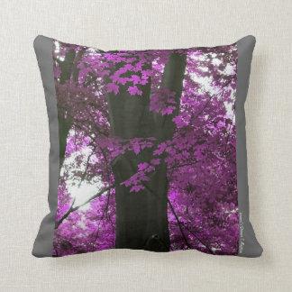 Almofada Impressões de um travesseiro decorativo da árvore