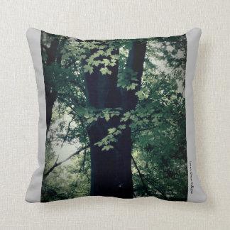 Almofada Impressões de um verde do travesseiro decorativo