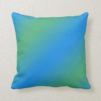 Almofada Inclinação azul e verde