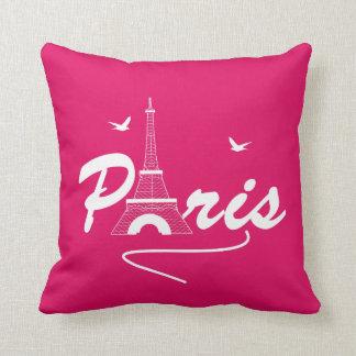 Almofada Indicação bonito feminino da torre Eiffel de Paris
