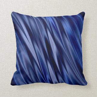 Almofada Índigo & listras azuis violetas do estilo do cetim