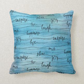 Almofada Inspirações emocionais na aguarela azul