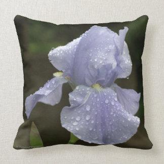 Almofada Íris azuis com o travesseiro decorativo do