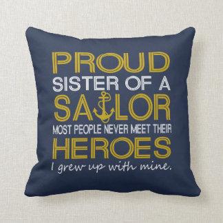 Almofada Irmã orgulhosa de um marinheiro