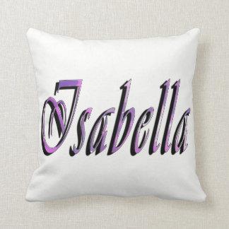 Almofada Isabella, nome, logotipo, coxim branco do lance