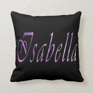 Almofada Isabella, nome, logotipo, coxim do lance do preto